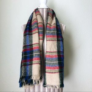 🇺🇸 D&Y Plaid Blanket-Sized Wrap